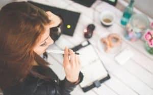 woman office hand copy