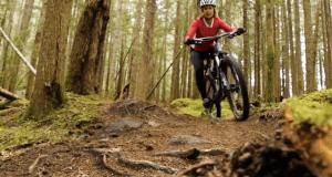 Lisa mountain biking