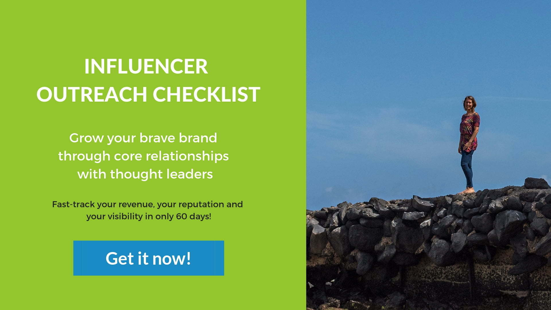 Influence outreach checklist banner